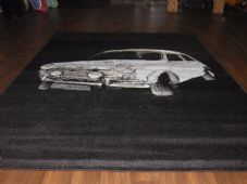 Rugs Approx 6x4ft 115x1165cm Woven Backed MINI Sale New Quality Black/blue Car